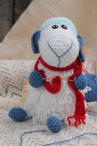 Handmade crochet toy cute soft toy unusual stuffed toy decorative use only - MADEheart.com