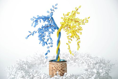 Decorative tree Yellow and Blue - MADEheart.com