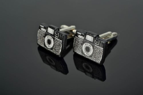 Unique cufflinks Photo Camera - MADEheart.com