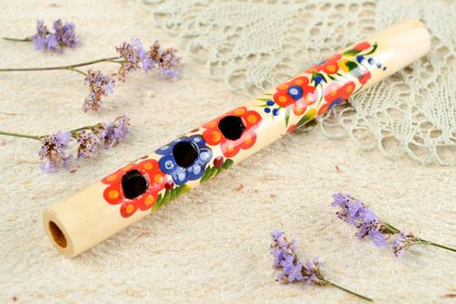 Handmade flute designer penny whistle unusual instrument gift ideas home decor - MADEheart.com