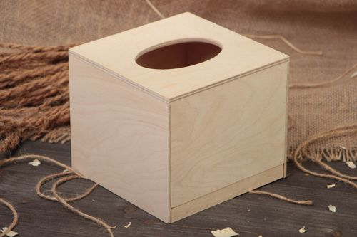 Handmade Plywood blank for napkin holder for decoupage or painting home decor - MADEheart.com