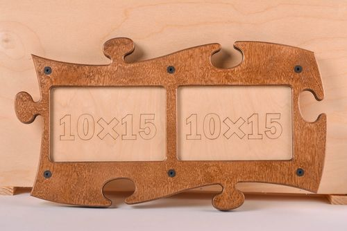 Handmade wooden photo frame unusual designer table cute decor photo frame - MADEheart.com