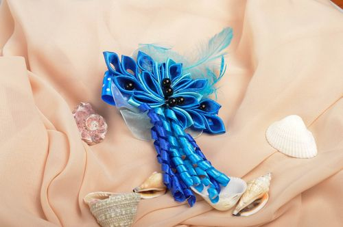 Handmade childrens hair tie designer hair accessory stylish hair tie for kids - MADEheart.com