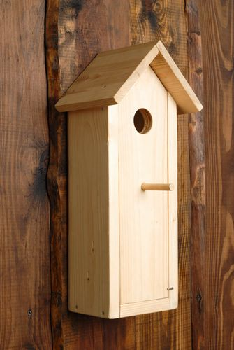 Wooden nest box with opening wall - MADEheart.com