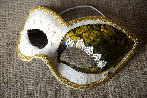 Designer carnival mask handmade masquerade mask Christmas mask party supplies - MADEheart.com