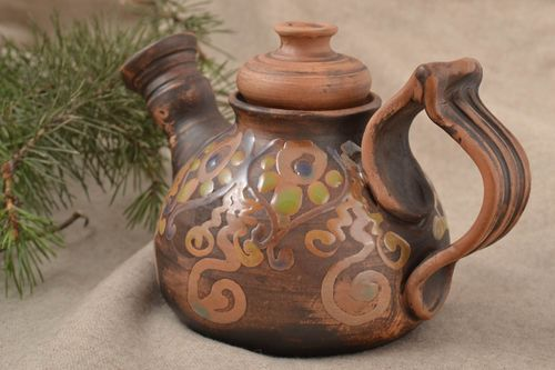 Beautiful handmade ceramic teapot designer clay teapot pottery works table decor - MADEheart.com