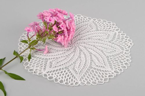 Handmade knitted napkin cotton designer kitchen decoration for present - MADEheart.com