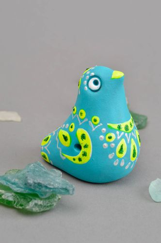 Handmade ceramic whistle statuette clay figurine for children nursery decor - MADEheart.com