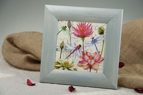 Painting in wooden frame - MADEheart.com