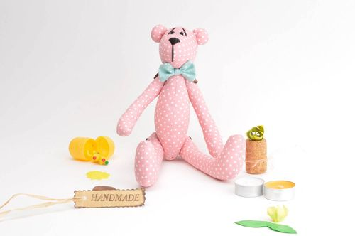 Cute textile soft toy interesting unusual accessories lovely handmade bear - MADEheart.com