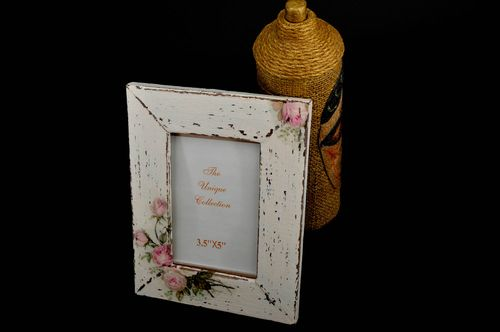 Unusual wooden photo frame handmade stylish photo frame home decor ideas - MADEheart.com