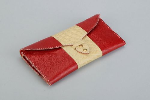 Womens leather wallet - MADEheart.com