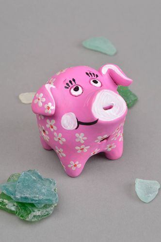 Clay animal whistle clay toy ceramic statuette for home decor gift for baby - MADEheart.com