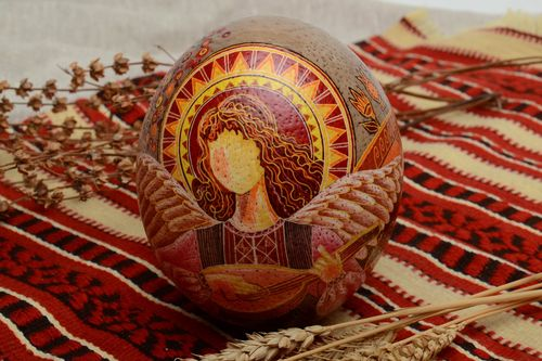 Handmade pysanka based on ostrich egg - MADEheart.com