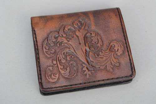 Leather wallet for men - MADEheart.com