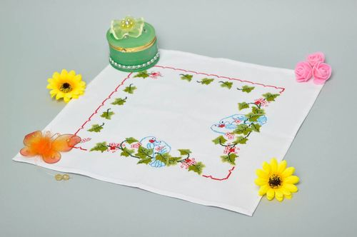 Handmade stylish napkin unusual embroidered napkin designer home textile - MADEheart.com