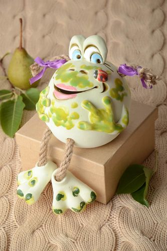 Unusual handmade ceramic figurine clay moneybox funny money box gifts for kids - MADEheart.com