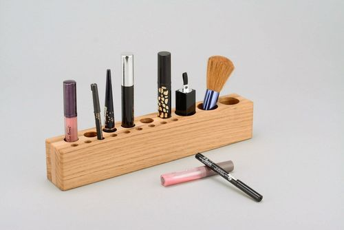 wooden holder for cosmetics - MADEheart.com
