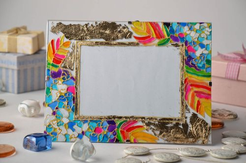 Stained glass photo frame - MADEheart.com