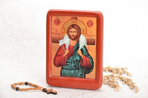 Icon reproduction Christ the Good Shepherd - MADEheart.com