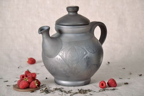 Ceramic kettle with lid  - MADEheart.com