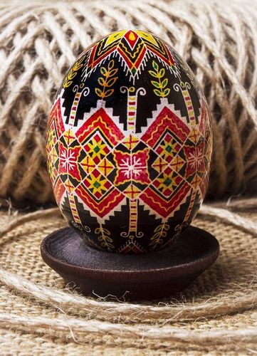 Pysanka with authors ornament - MADEheart.com
