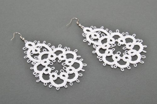 Woven earrings, handwork - MADEheart.com