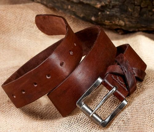Authors leather belt - MADEheart.com