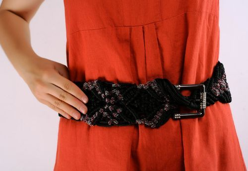 Braided belt black-grey  - MADEheart.com