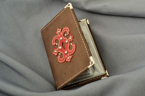 Driving license holder handmade leather goods leather accessories gifts for men - MADEheart.com