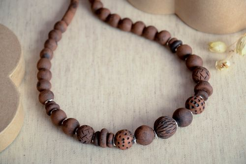 Designer necklace handmade clay necklace ceramic jewelry eco friendly accessory - MADEheart.com