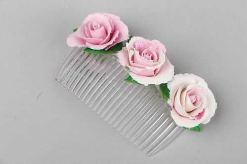 Comb with roses - MADEheart.com