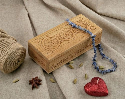 Handmade carved box - MADEheart.com