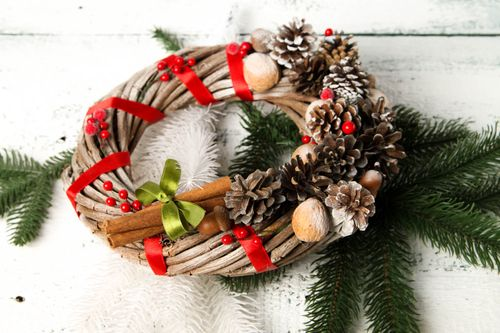 Christmas lovely wreath handmade cute door decor designer home accessories - MADEheart.com
