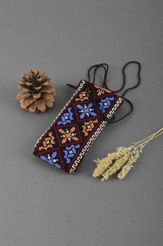 Beautiful handmade fabric phone case unusual textile gadget case small gifts - MADEheart.com