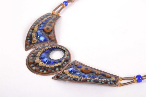 Necklace Peacock eye - MADEheart.com
