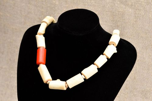 Handmade wooden necklace stylish jewelry ethnic necklace eco friendly necklace - MADEheart.com