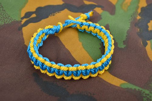 Colorful handmade textile bracelet woven wrist bracelet accessories for girls - MADEheart.com
