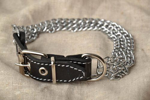 Metal prong collar for dog - MADEheart.com