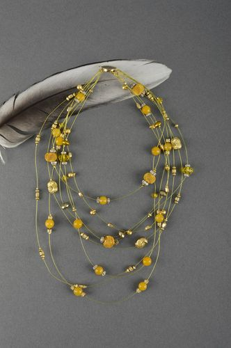 Natural stones handmade necklace designer unique accessory present for woman - MADEheart.com