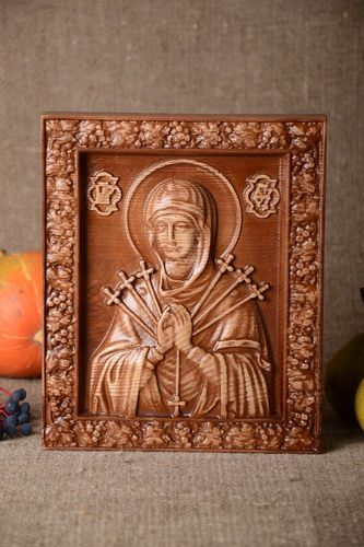 Handmade orthodox icon wooden designer accessories beautiful unusual present - MADEheart.com