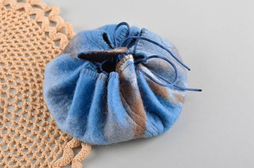 Designer felted bijouterie bag jewelry baggy unusual handmade present for her - MADEheart.com