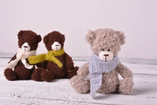 Beautiful soft toy stylish unusual accessories interesting handmade bear - MADEheart.com