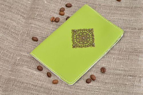 Handmade cover for passport unusual passport cover leather accessory gift ideas - MADEheart.com