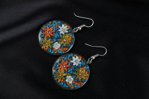 Polymer clay earrings Bouquet - MADEheart.com