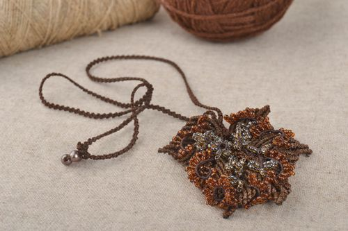 Handmade necklace macrame jewelry necklaces for women pendant necklace - MADEheart.com