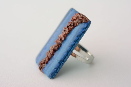 Polymer clay ring - MADEheart.com