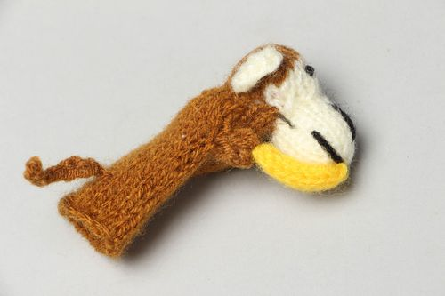 Hand knitted finger toy - MADEheart.com