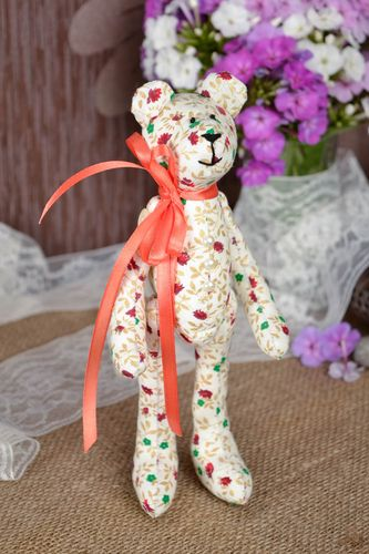 Handmade toy bear toy soft toy stuffed animals presents for kids nursery decor - MADEheart.com