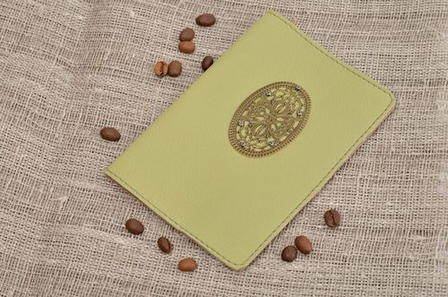Handmade passport cover unusual cover for passport leather accessory gift ideas - MADEheart.com